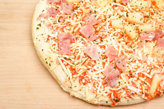 Pizza Hawaii On A Board Royalty Free Stock Image