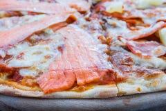 Pizza Hawaiian and Salmon pizza Royalty Free Stock Photography