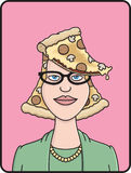Pizza Head Royalty Free Stock Photos