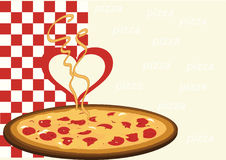 Pizza with a heart Stock Photo