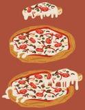 Pizza hecha a mano italiana 2 stock de ilustración