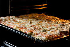 Pizza homemade right from the oven Royalty Free Stock Image