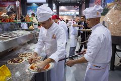 Pizza at Host 2013 in Milan, Italy Stock Photos