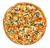 Pizza hot Mexico. With corn and cheese Stock Images