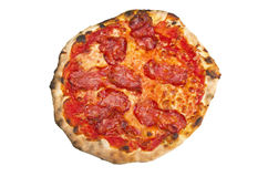 Pizza with hot salami Stock Photo