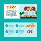 Pizza house horizontal flyers Stock Photos
