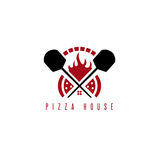 Pizza house vector concept with oven. And peels Stock Image