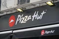 Pizza Hut-Restaurant stock fotografie