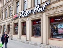 Pizza Hut-restaurant in St. Petersburg Royalty-vrije Stock Fotografie