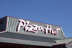 Pizza Hut, sinal e logotipo fotos de stock royalty free