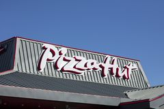 Pizza Hut, sign and logo royalty free stock photos