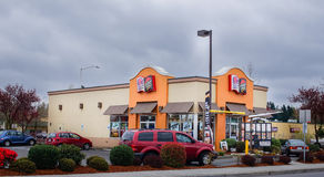 Pizza hut taco bell drive through Royalty Free Stock Images