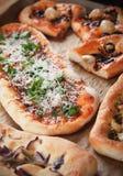 Pizza i focaccia chleb Fotografia Stock