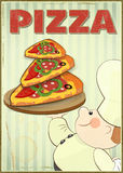 Pizza i szef kuchni Zdjęcia Stock