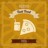 Pizza icon. Menu and food design. Vector graphic Stock Photography