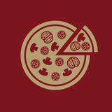 The pizza icon. Pizzeria and baking, fast food symbol. Flat Stock Images