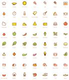 Pizza icon set Royalty Free Stock Photos