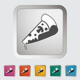 Pizza icon Stock Photo
