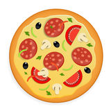 Pizza icon vector illustration. Stock Images