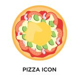 Pizza icon vector sign and symbol isolated on white background, vector illustration