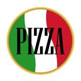 Pizza icon vector italian. Design pizzeria logo Stock Image