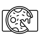 Pizza icon vector stock illustration