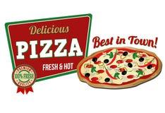 Pizza icon Stock Photography
