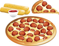 Pizza icons Stock Photos