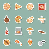 Pizza icons Stock Photography