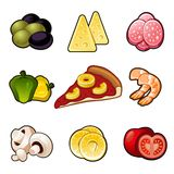 Pizza icons set Stock Image