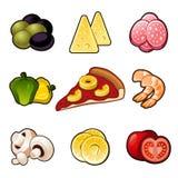 Pizza icons set vector illustration