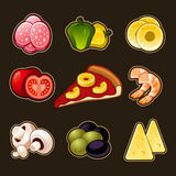 Pizza icons set Stock Images