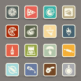 Pizza icons vector Royalty Free Stock Photo