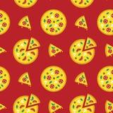 Pizza icons Stock Photos