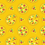Pizza icons Stock Images