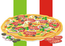Pizza illustration Stock Photography