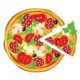 Pizza,  illustration Stock Photography
