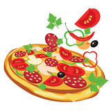 Pizza,  illustration Royalty Free Stock Photo