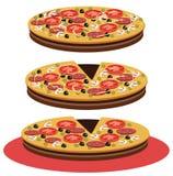 Pizza - Illustration Stockfotos
