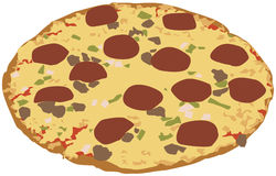 Pizza illustration Royalty Free Stock Image