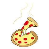 Pizza. An illustration of a pizza on a neutral background Stock Photos