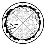 Pizza. Illustrator desain .eps 10 Stock Photo