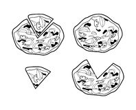 Pizza. Illustrator desain .eps 10 Royalty Free Illustration
