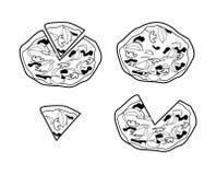 Pizza. Illustrator desain .eps 10 Stock Images