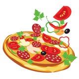 Pizza, ilustracja Zdjęcie Royalty Free