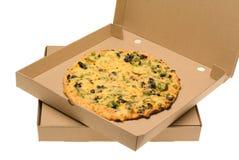 Pizza im Kasten Stockbild