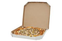 Pizza im Kasten lizenzfreie stockbilder