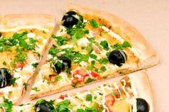 Pizza In Carton Box Stock Photo