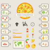 Pizza Infographics Elements and Icons Royalty Free Stock Photo