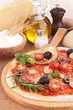 Pizza with ingredient Stock Image